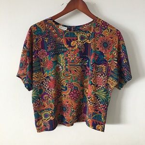 Scarf Patterned Top Sz M